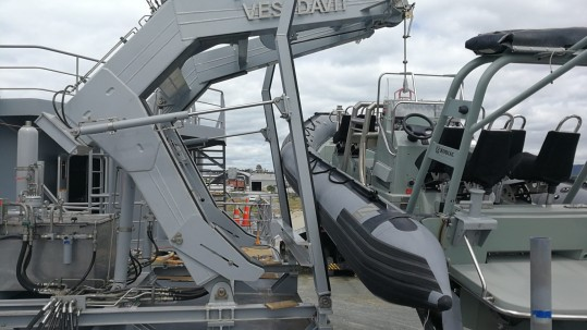 Antelope Engineering are proud to announce our recent role as partner with Vestdavit bringing boat handling technology to The Royal New Zealand Navy.